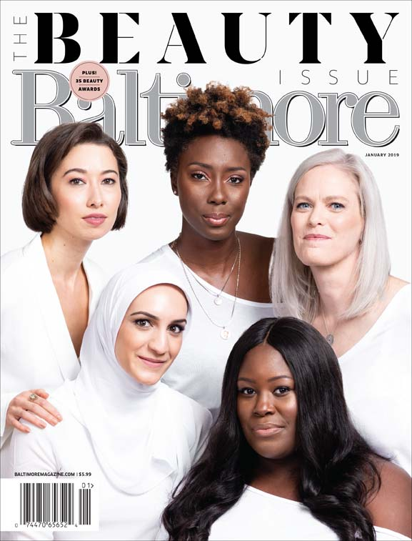 Baltimore Magazine Beauty Issue cover