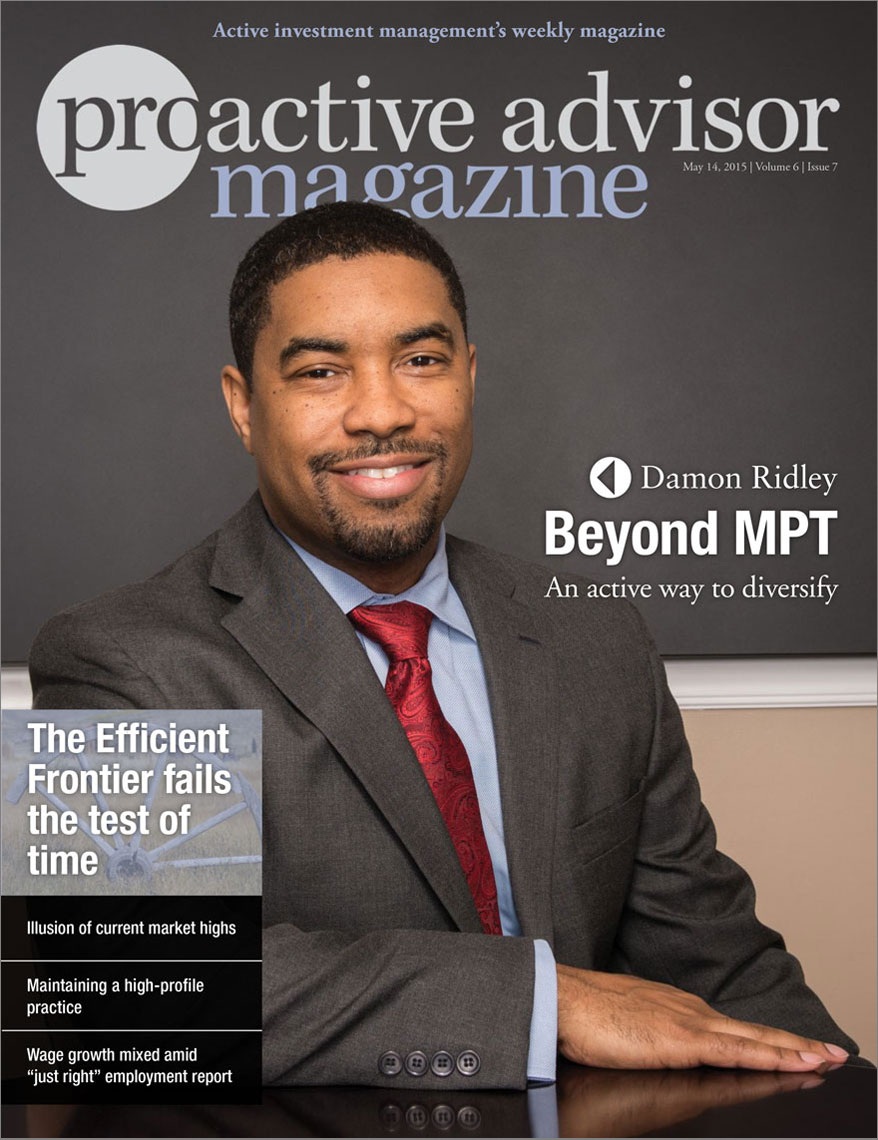 Proactive Advisor Magazine cover featuring Damon Ridley