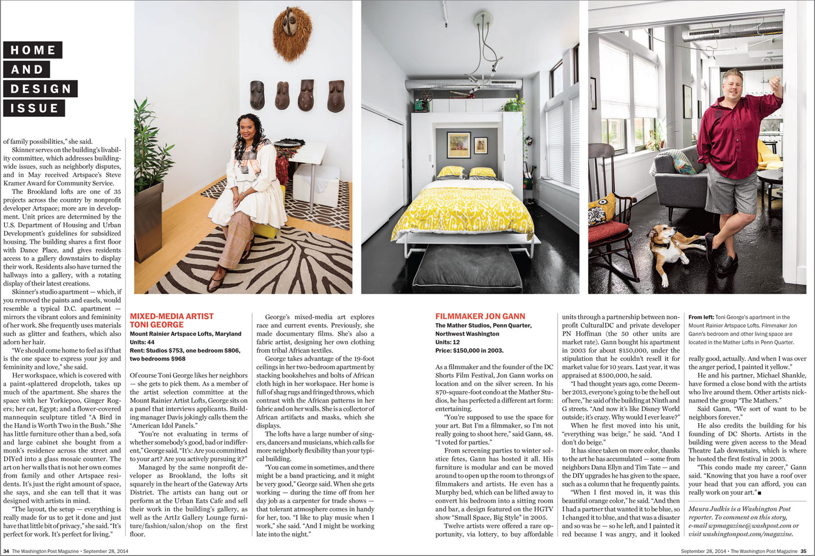 Washington Post Magazine Home and Design Issue spread