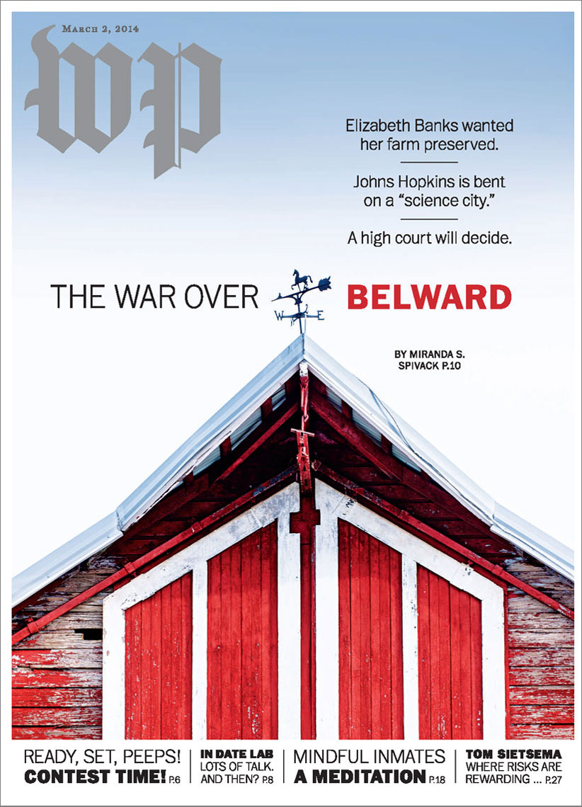 Washington Post Magazine cover featuring Belward Farm