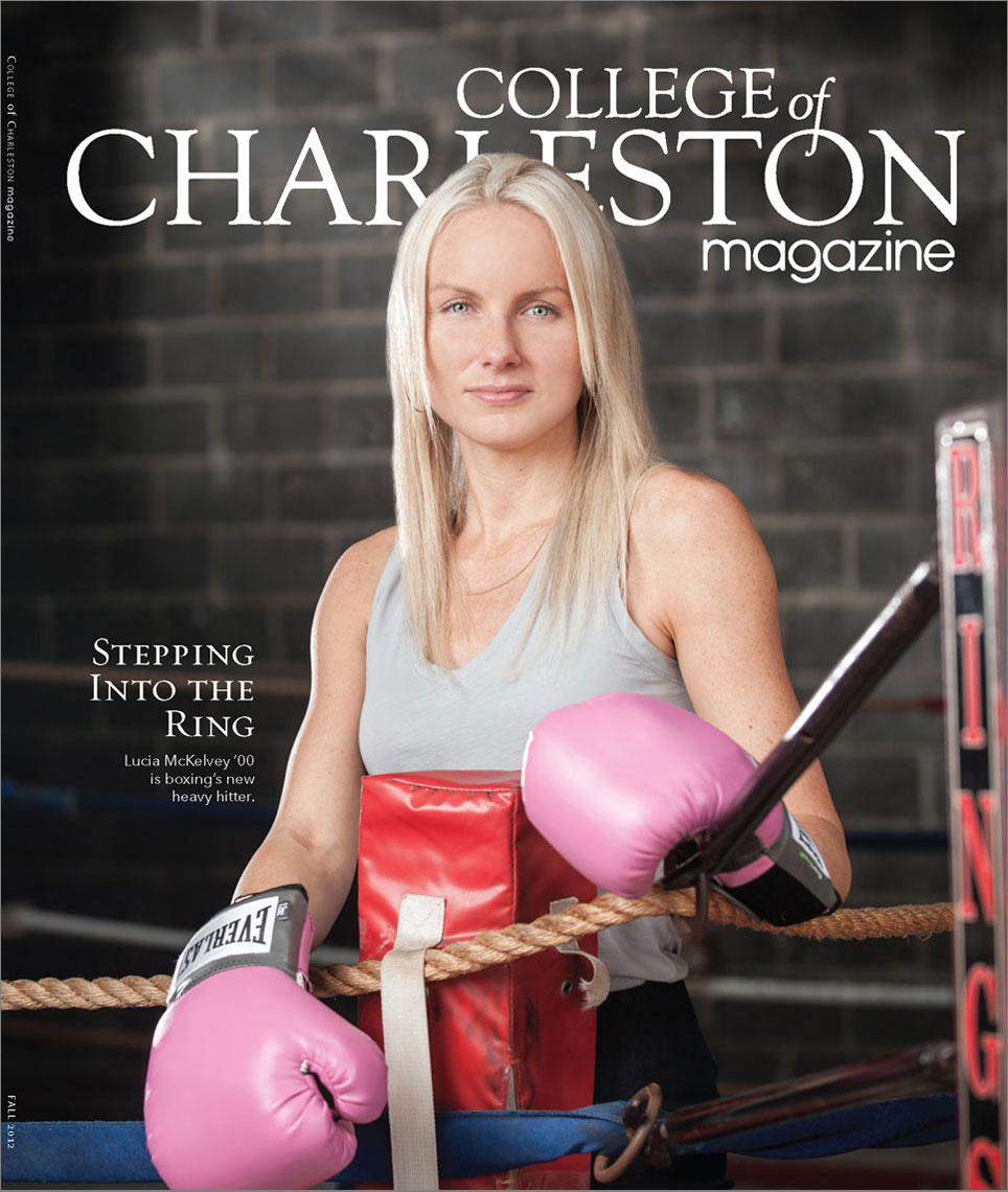 College of Charleston Magazine cover featuring Lucia McKelvey