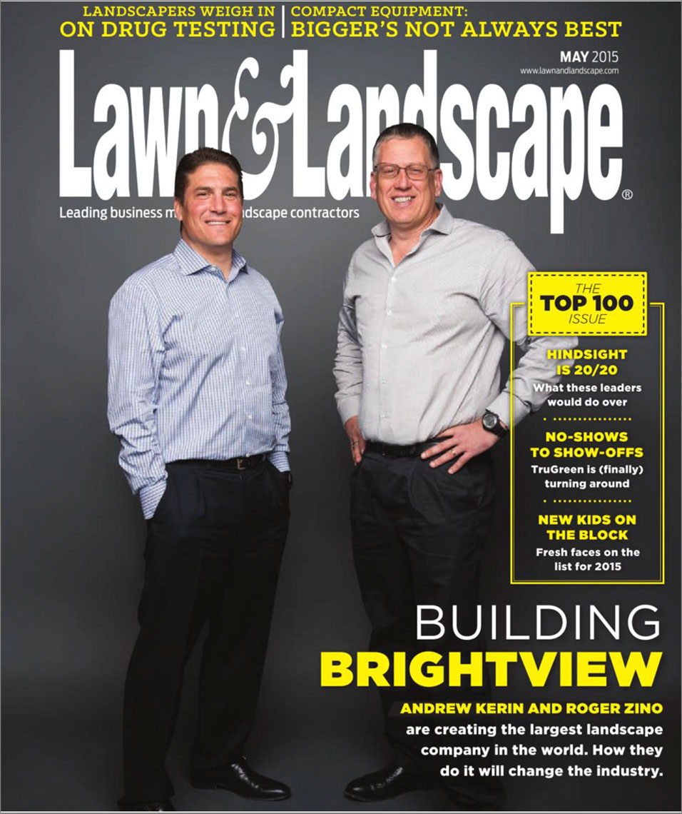 Lawn and Landscape Magazine cover featuring Andrew Kerin and Roger Zino
