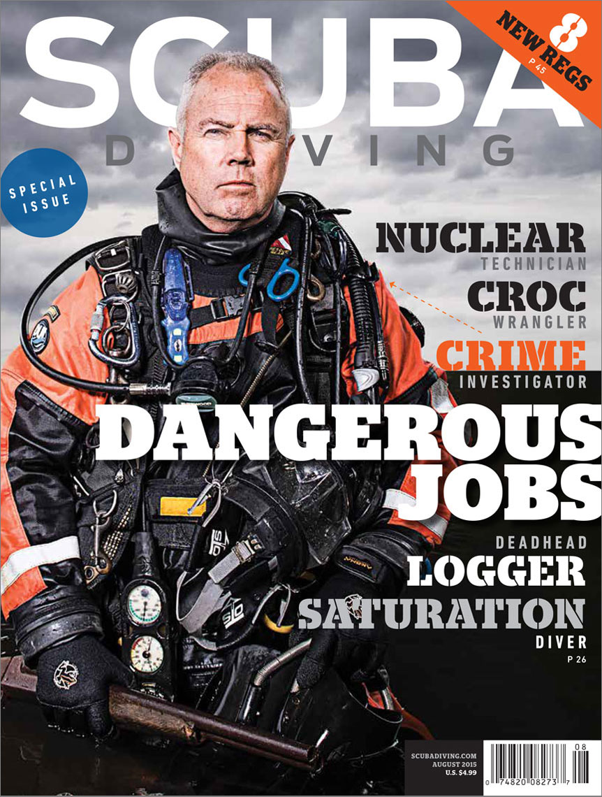 Scuba Diving Magazine cover featuring Mike Berry
