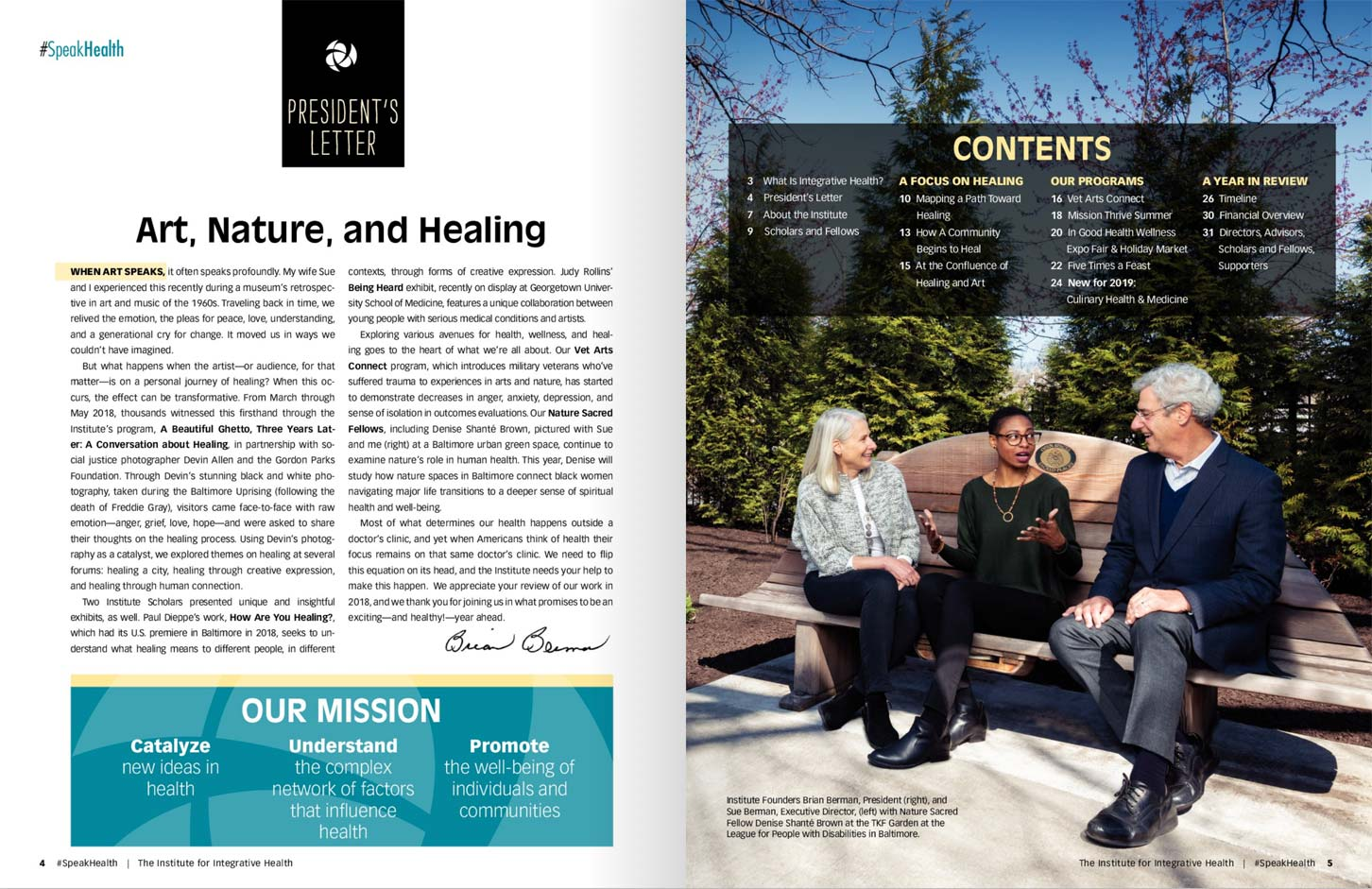 The Institute for Integrative Health 2018 Annual Report.
