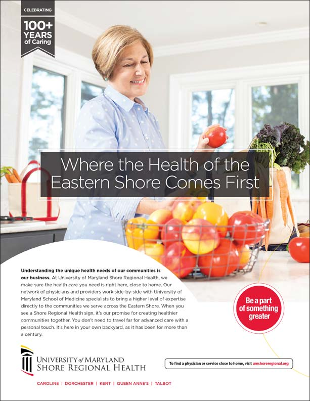 Advertisement for the University of Maryland Shore Regional Health