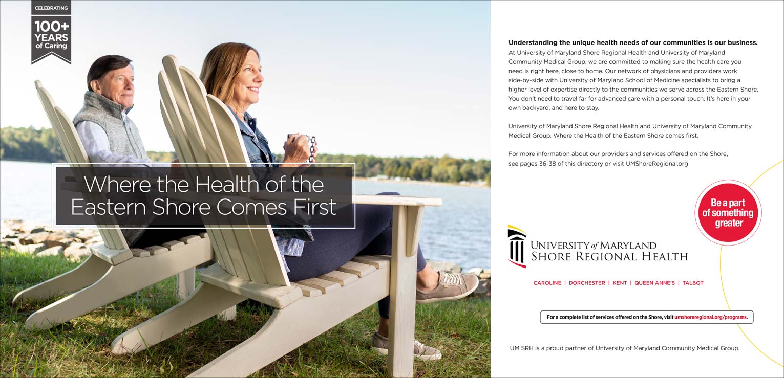 An advertisement  for University of Maryland Shore Regional Health