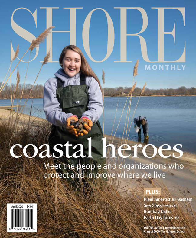 Shore Monthly magazine cover featuring the Gunston School