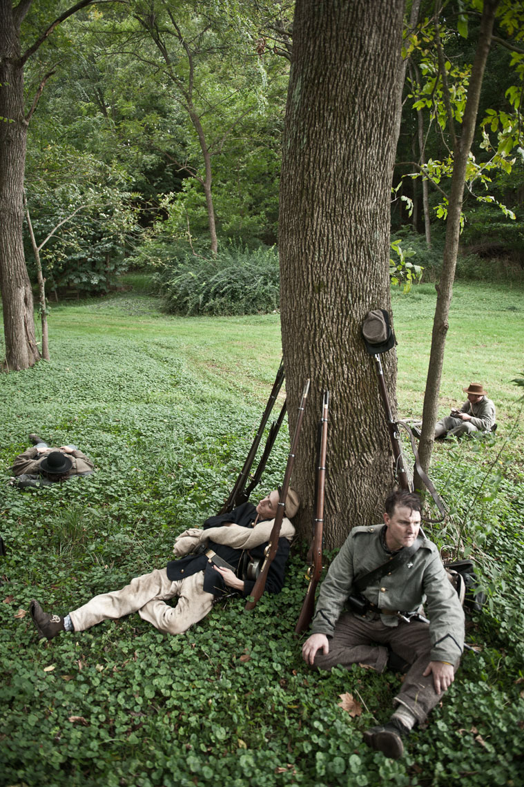 Civil War reenactors at Antietam, by Washington DC photographer Mike Morgan.