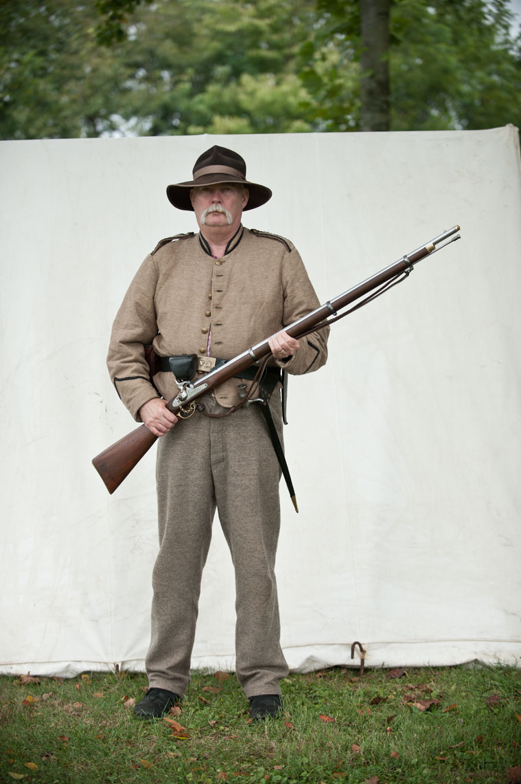 Civil War reenactors at Antietam, by Maryland photographer Mike Morgan.