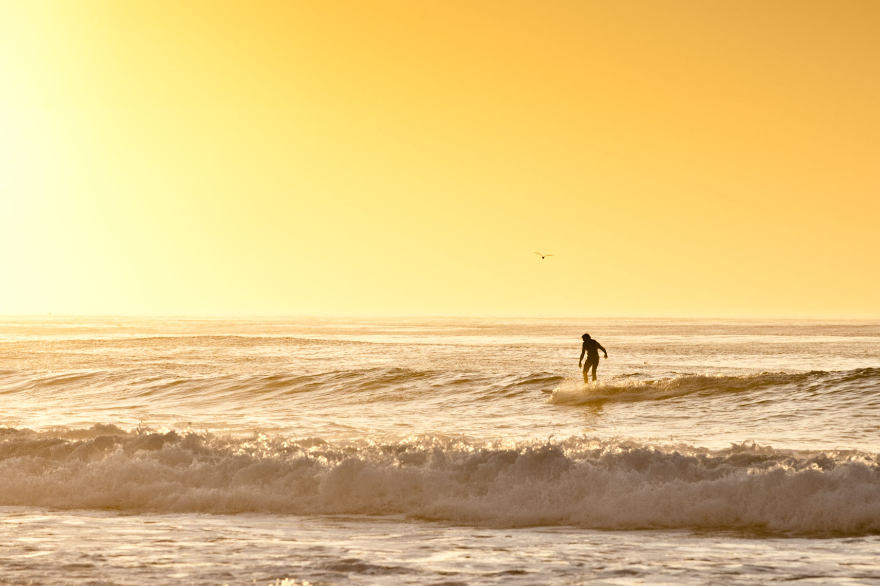Surfer at Asilomar, by California landscape photographer Mike Morgan.