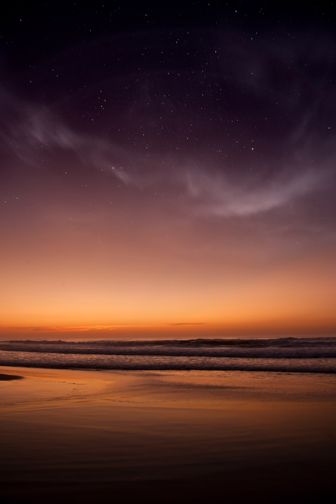 The sunset afterglow as the stars come out above the Pacific Ocean at landscape photographer, scenic California, California landscape, fine art photography, Asilomar State Beach, Pacific Grove, Asilomar State Beach, Pacific Grove