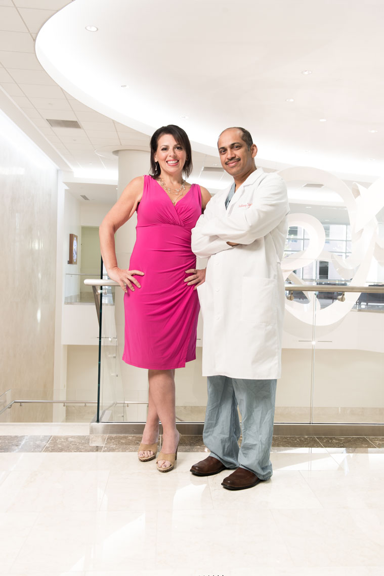 Dr. Kuldeep Singh and Carole Ferrante, healthcare photography by Mike Morgan