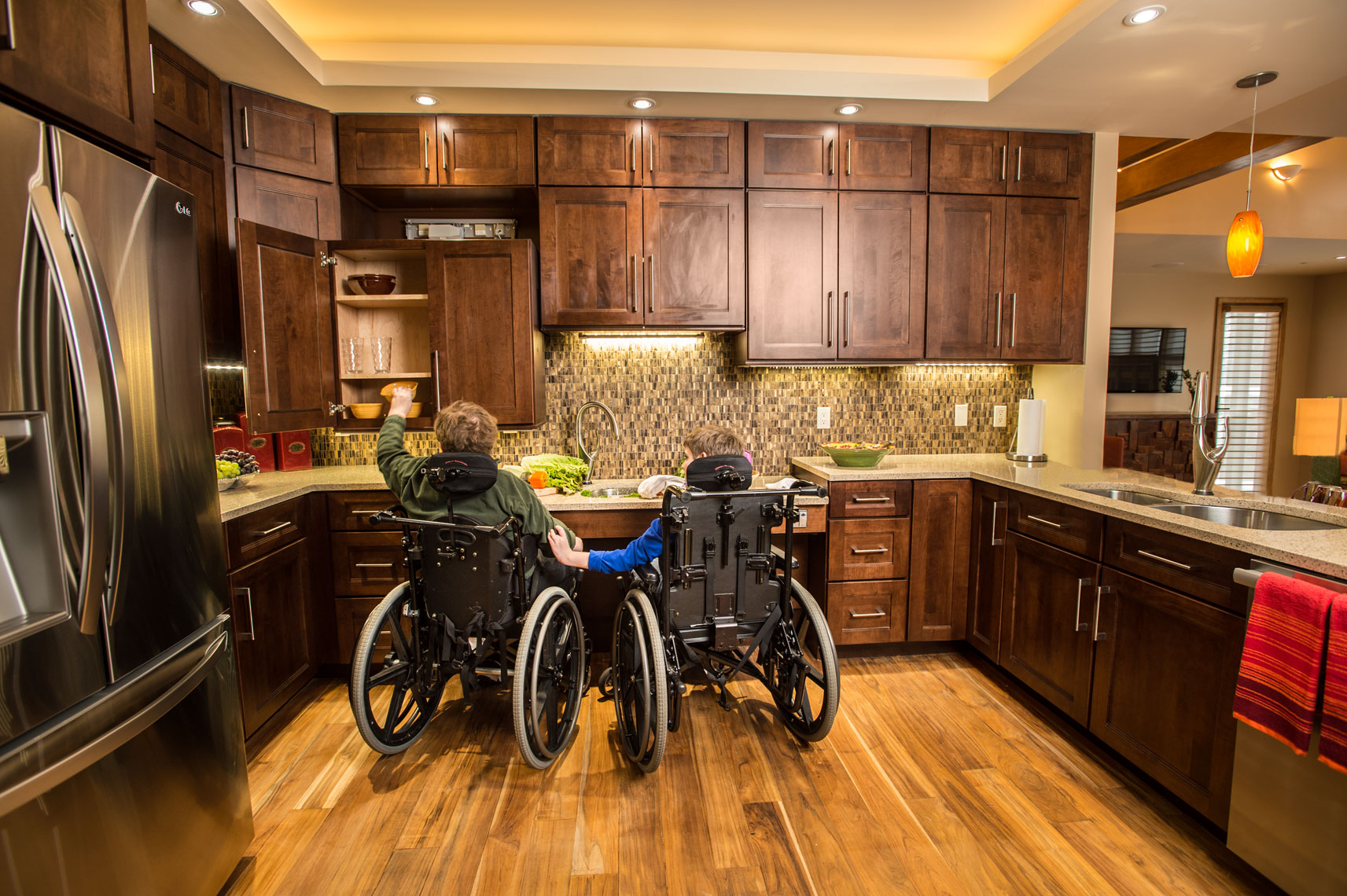 An accessible home, by healthcare photographer Mike Morgan