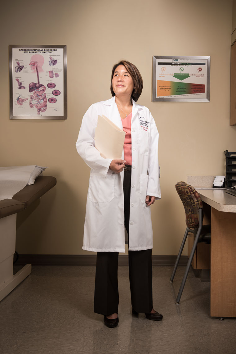 Dr. Christina Li, by healthcare photographer Mike Morgan