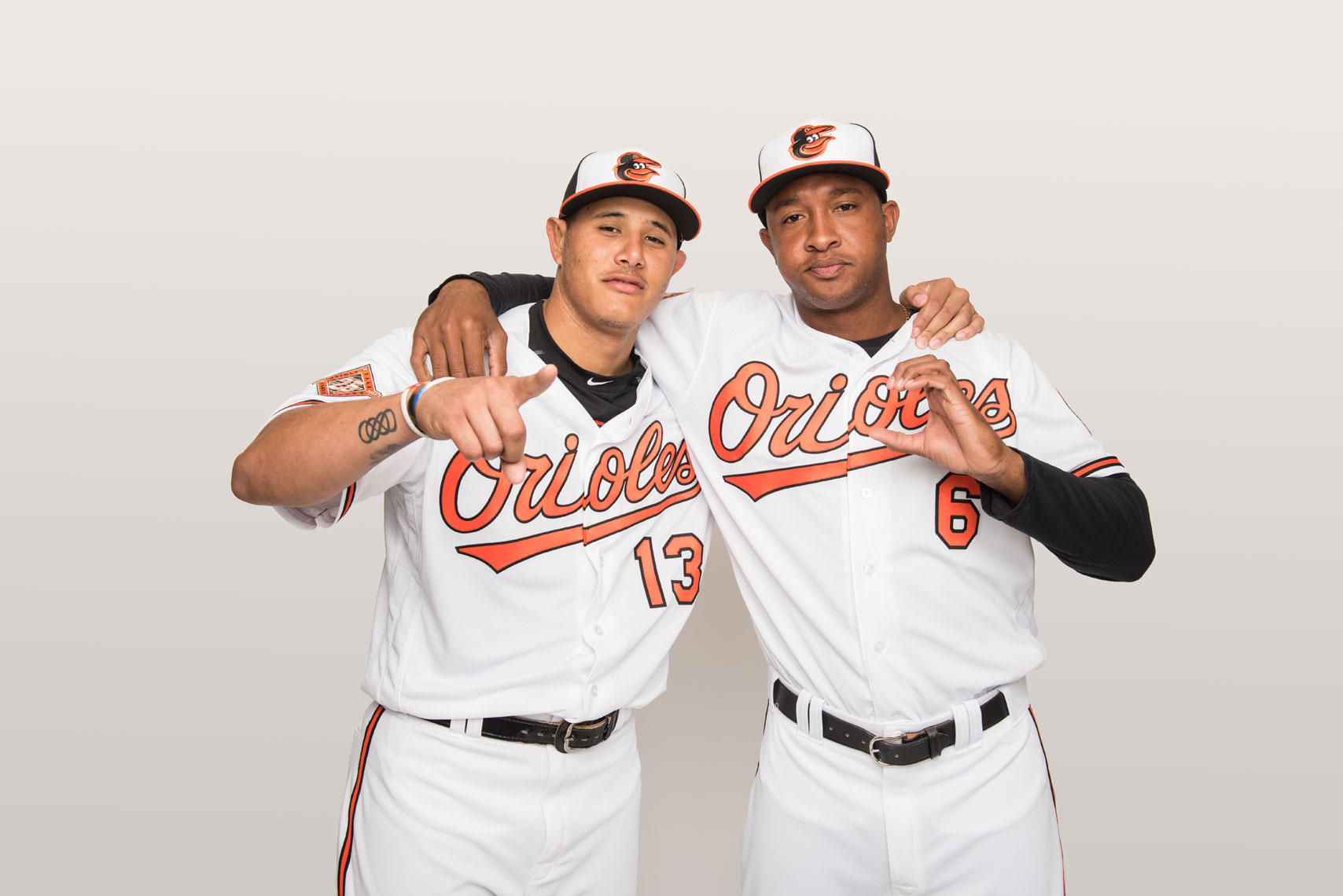 Manny Machado and Jonathan Schoop, by Baltimore photographer Mike Morgan