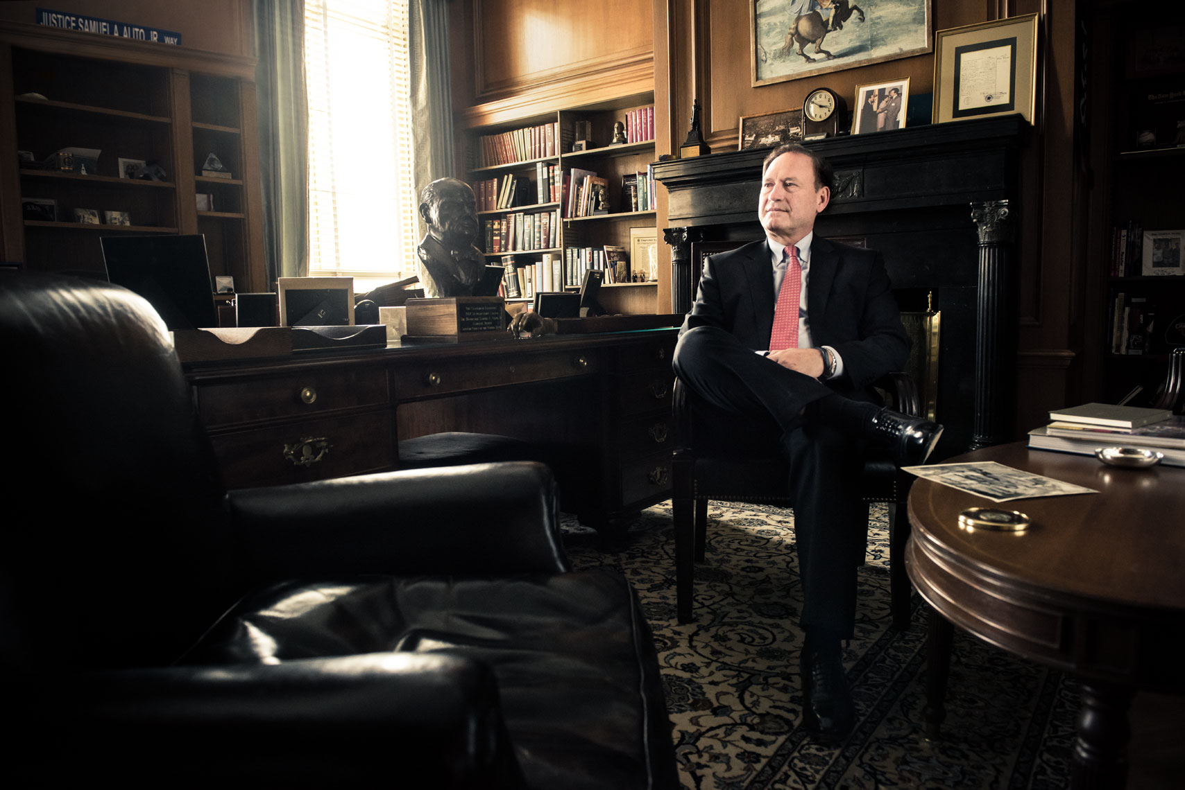 Supreme Court Justice Samuel Alito, by Washington DC photographer Mike Morgan