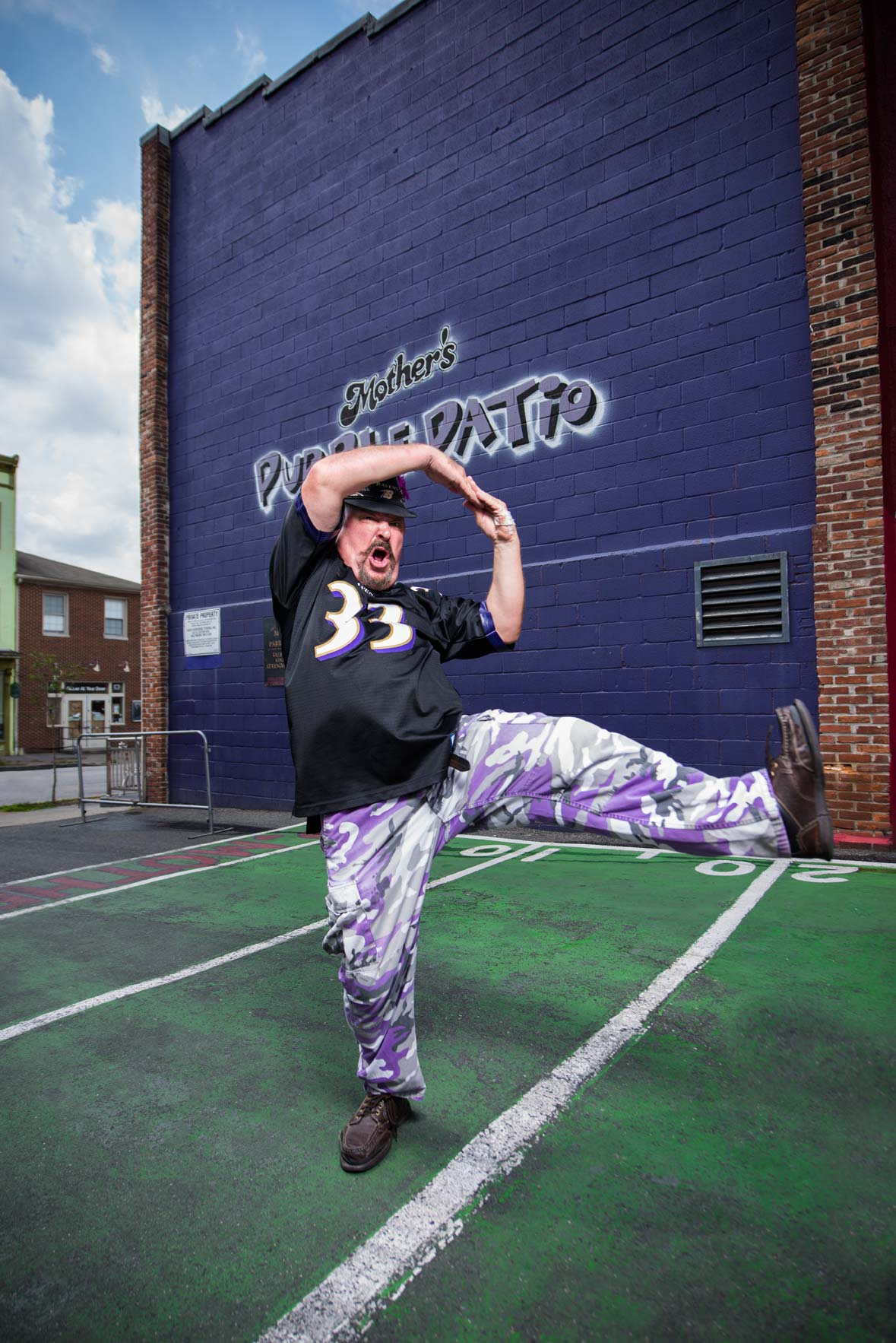 Real Fan Dan, Dan Granofsky, photographed for Baltimore Magazine
