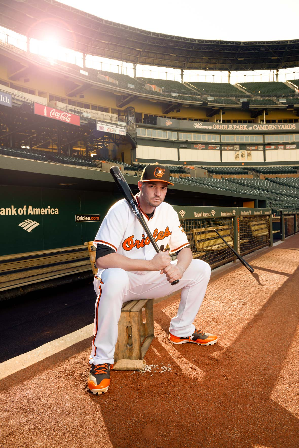 Baltimore Orioles player Trey Mancini, photographed for Baltimore Magazine