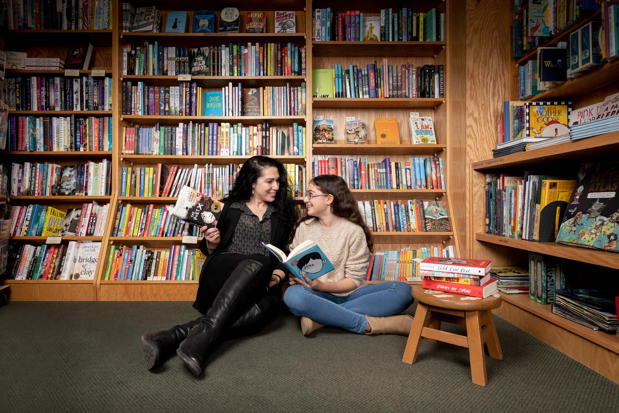 Author Susan Muaddi Darraj and her daughter Miriam, for Baltimore Magazine