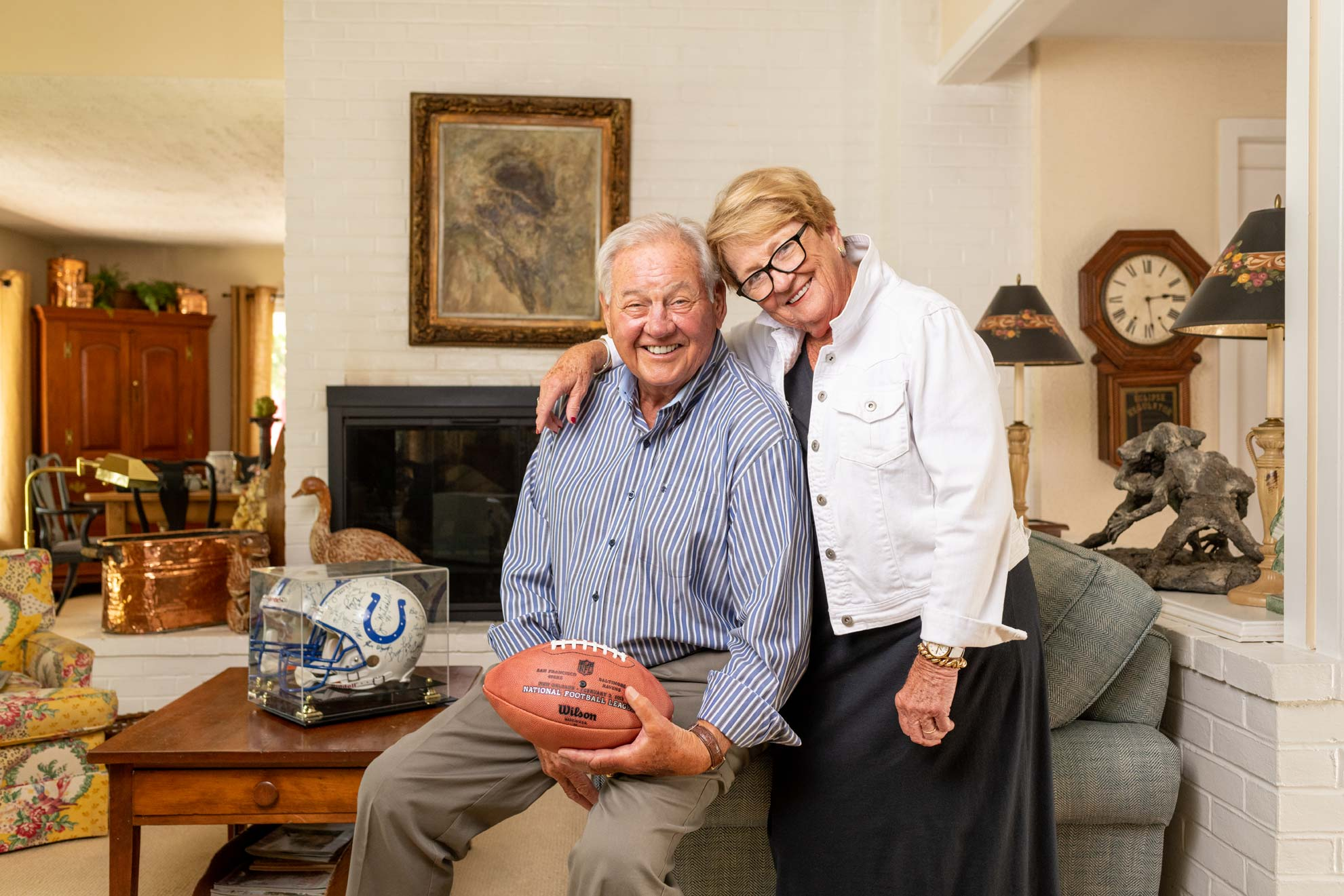 Baltimore Colts legend Tom Matte and wife Judy