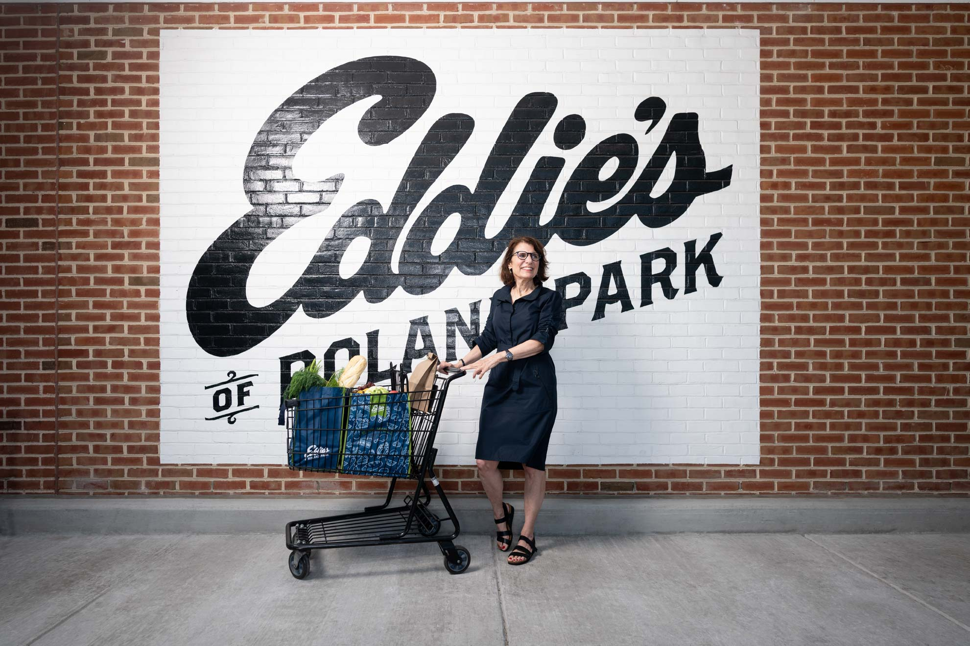 Nancy Cohen standing in front of the Eddie