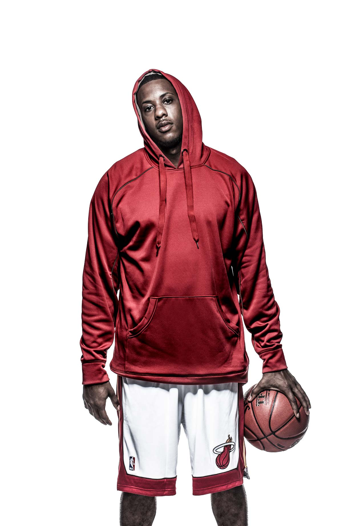 Mario Chalmers, Miami Heat, for Russell Athletic.